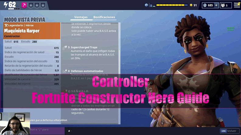 The Most Complete Fortnite Constructor Hero Guide - Controller
