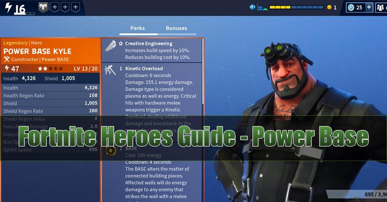 Fortnite Heroes Guide to Power BASE: Skin & Abilities