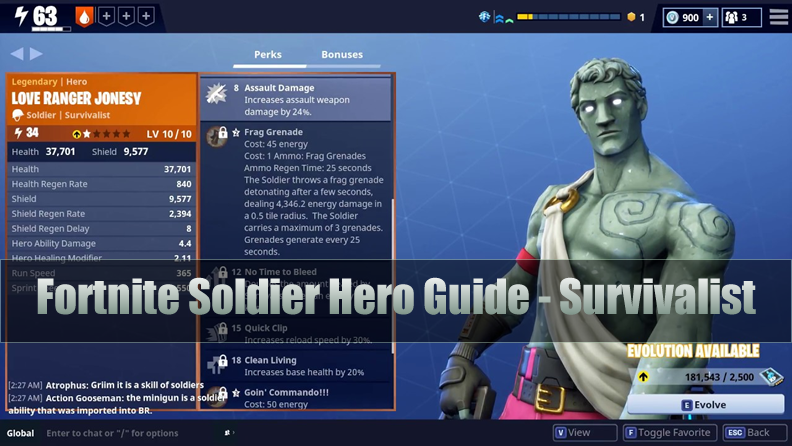 The Most Complete Fortnite Soldier Hero Guide - Survivalist