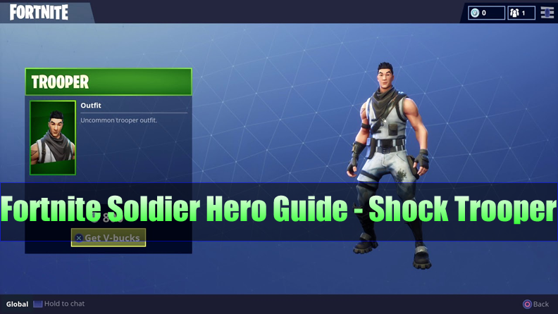 The Most Complete Fortnite Soldier Hero Guide - Shock Trooper