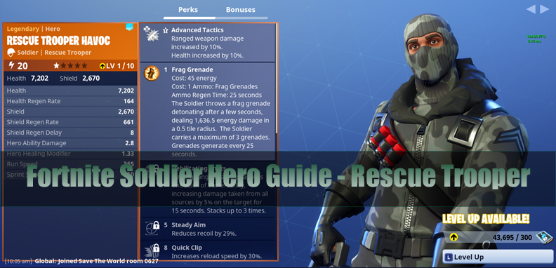 The Most Complete Fortnite Soldier Hero Guide - Rescue Trooper