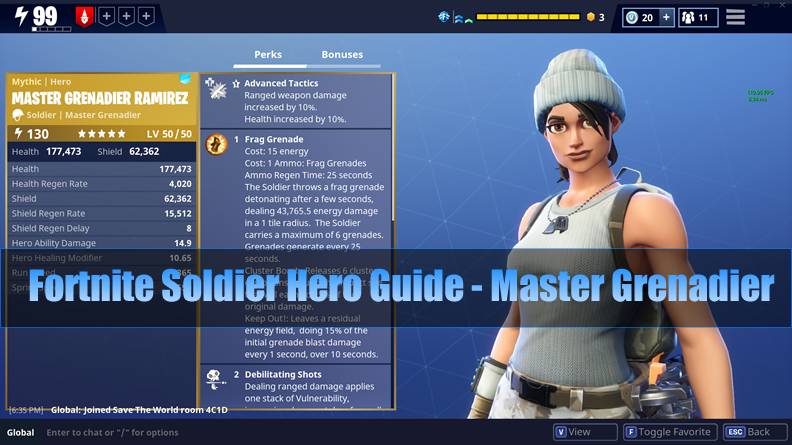 The Most Complete Fortnite Soldier Hero Guide - Master Grenadier