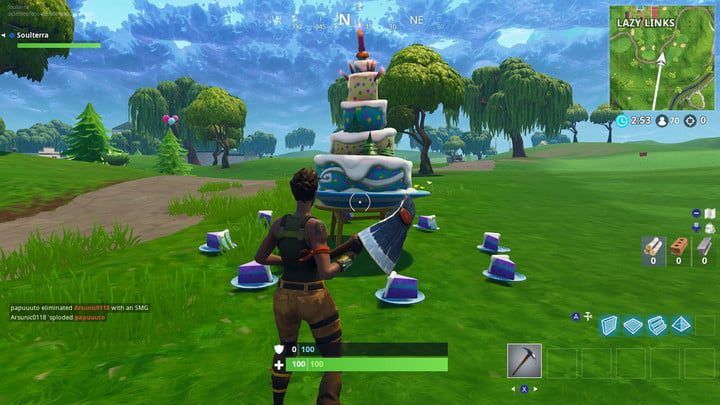 Fortnite Challenge All Birthday Cake Location Guide