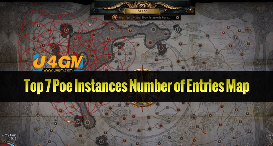 Top 7 Poe Instances Number of Entries Map