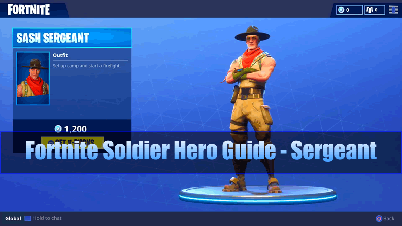 The Most Complete Fortnite Soldier Hero Guide - Sergeant