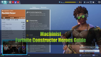fortnite constructor heroes guide to machinist - fortnite sturdy mechanical parts