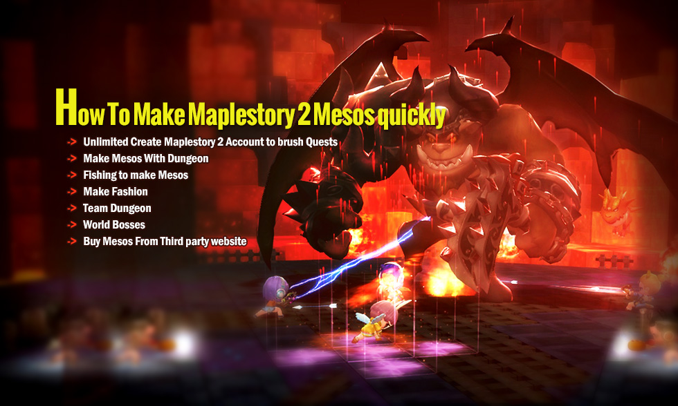 How To Make Maplestory 2 Mesos quickly