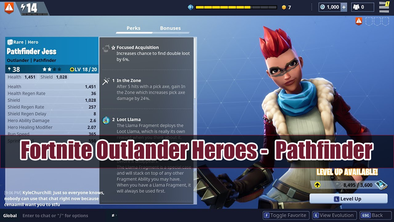 Fortnite Outlander Heroes Guide to Pathfinder: Skin & Perks
