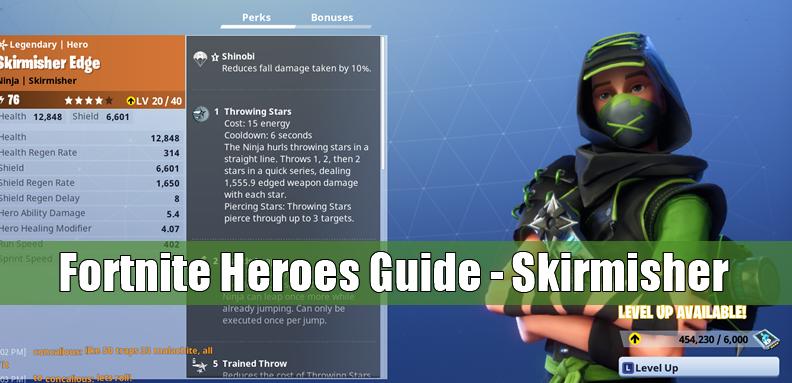 Fortnite Ninja Heroes Guide to Skirmisher: Skin & Abilities
