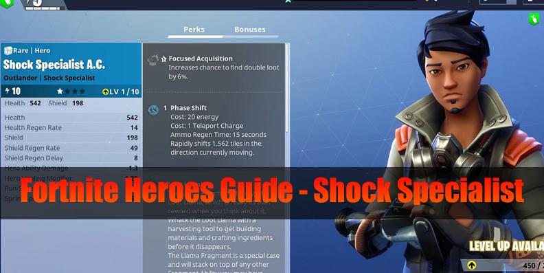 Fortnite Ninja Outlander Heroes Guide - Shock Specialist (Skin & Perks)