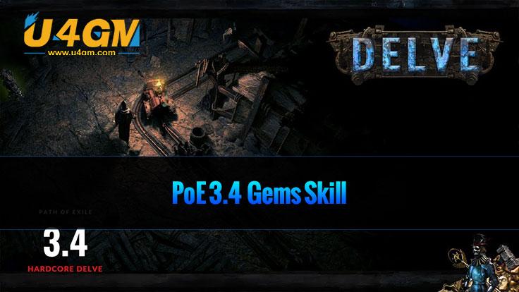 PoE 3.4 Gems properties and skills details