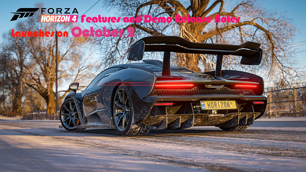 Forza Horizon 4 Features and Demo Release Notes