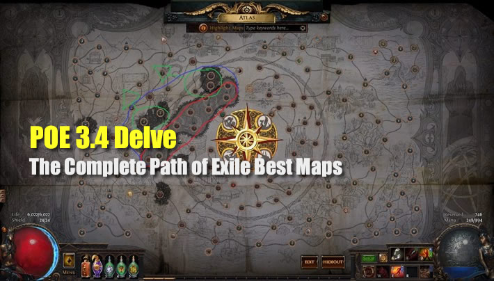 POE 3.4 Delve: The Complete Path of Exile Best Maps