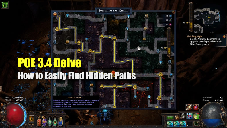 POE 3.4 Delve: How to Easily Find Hidden Paths