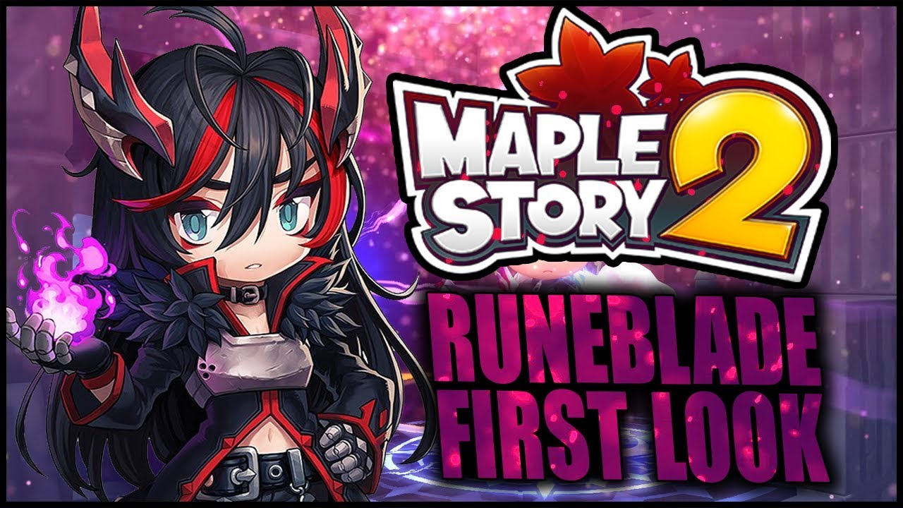 Maplestory 2 Add New Job Runeblade