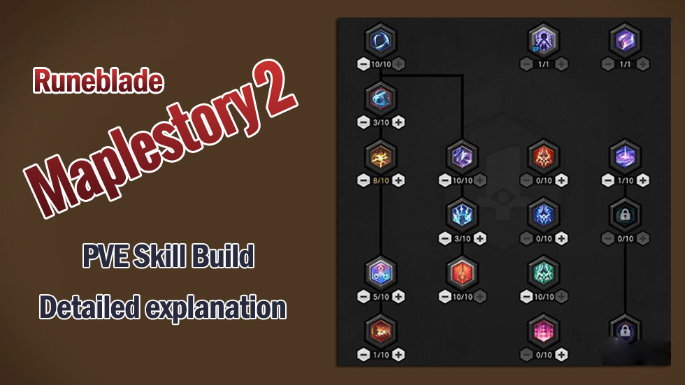 Maplestory 2 Runeblade PVE Skill Build detailed explanation