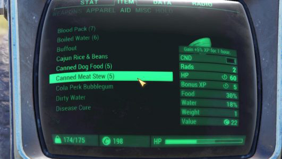 The Canned Meat Stew Is No Longer Available In Fallout 76