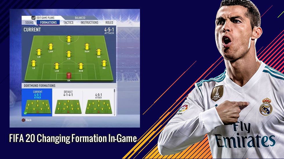 FIFA 20 Changing Formation In-Game