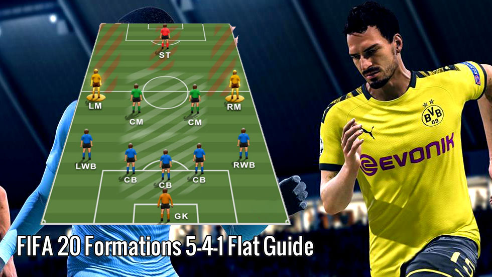 FIFA 20 Formations 5-4-1 Flat Guide