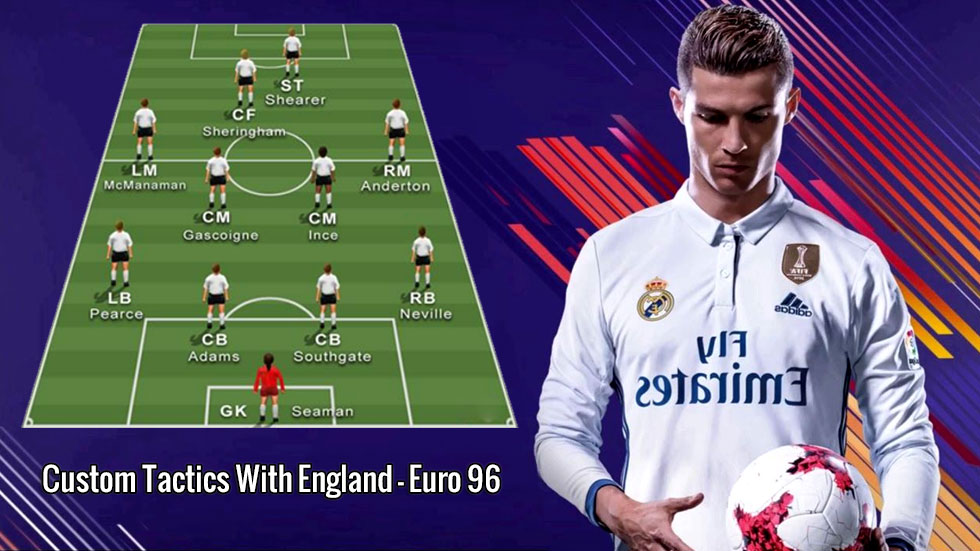 FIFA 20 Custom Tactics With England - Euro 96