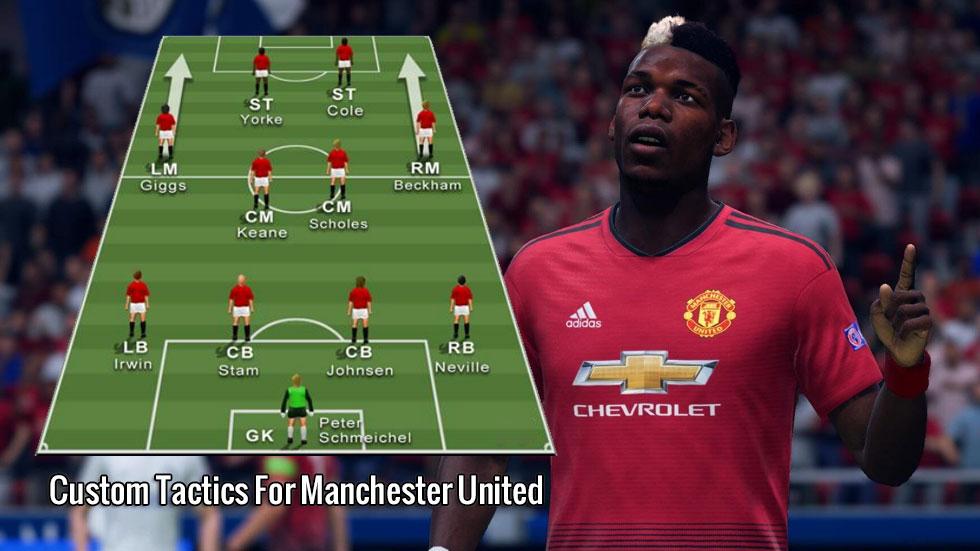 FIFA 20 Custom Tactics For Manchester United - Treble Winners