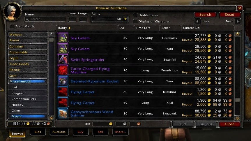 Making WOW Classic Gold By Auction House