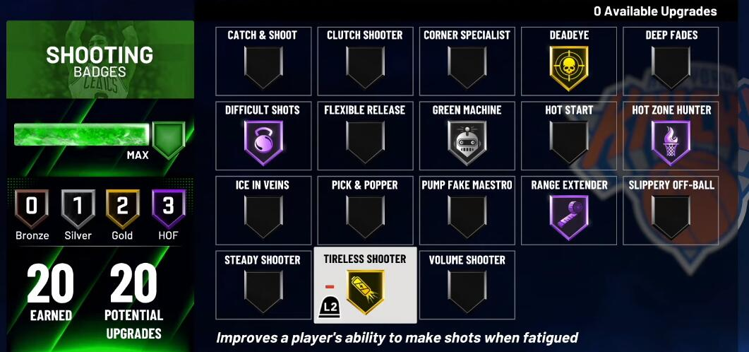 How to choose the right NBA 2K21 Shooting badge
