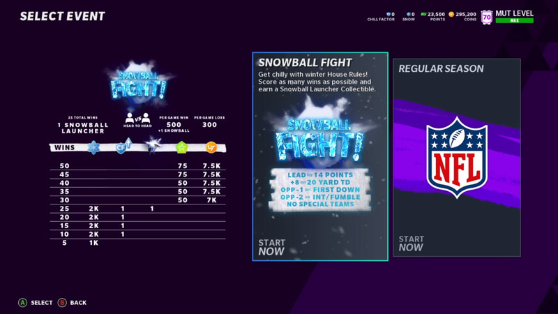 Madden 21 Snowball Fight Event Tips
