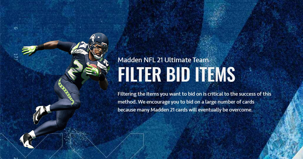 How to Filter bid items to Easy earn MUT coins