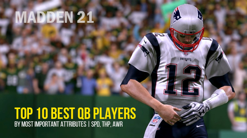 Madden 21: Top 10 Best QB Players by Most Important Attributes | SPD, THP, AWR