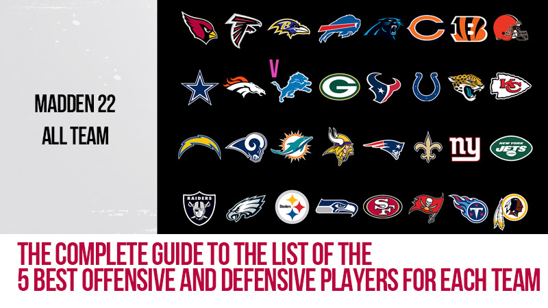 Madden 22: The complete guide to the list of the 5 best offensive and defensive players for each team