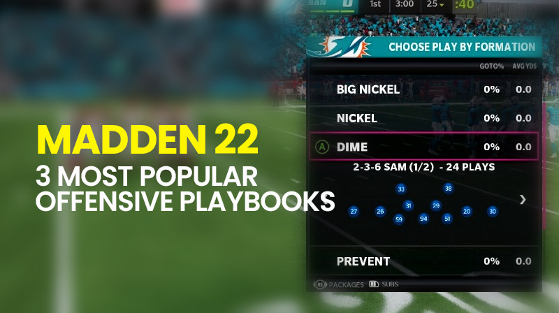 Madden 22: 3 most popular offensive Playbooks