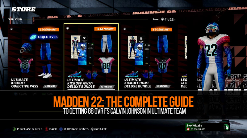 Madden 22: The complete guide to getting 88 OVR FS Calvin Johnson in Ultimate Team