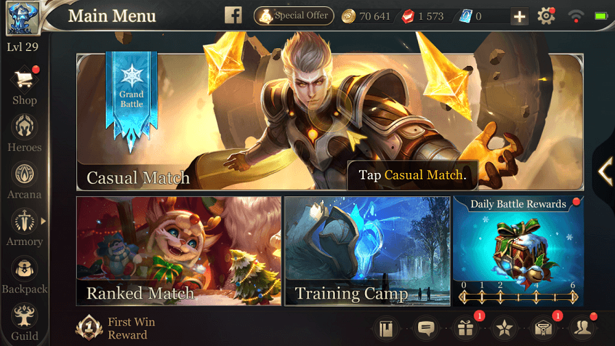 [Europe] Arena Of Valor Account 26 Level + 70000 Gold + 19 Heroes + 1500 Gems